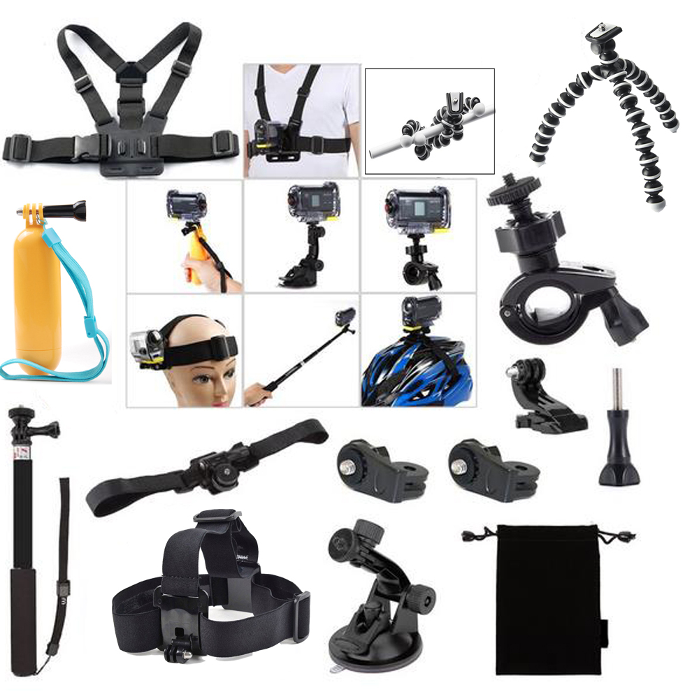 For Ion Air Pro Wi-fi 2-3 Kit Accessories for Sony Action Cam HDR AS15 AS20 AS200V AS30V AS100V AZ1