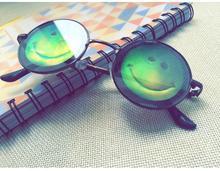 lunette de soleil circle sunglasses trendy eye smiling designed geek glasses fashion eyewear men decorative unique sunglasses