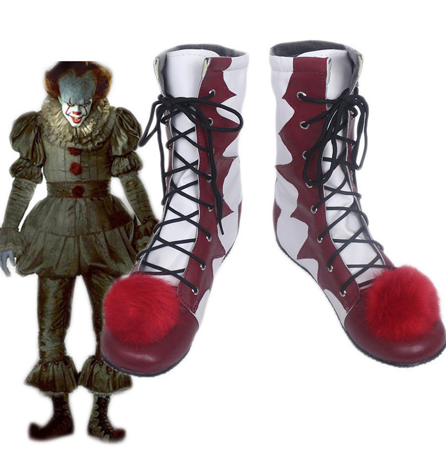 stephen king's it pennywise Clown pennywise the clown costume Halloween Mens Women Cosplay Costumes Boots Shoes Custom Made