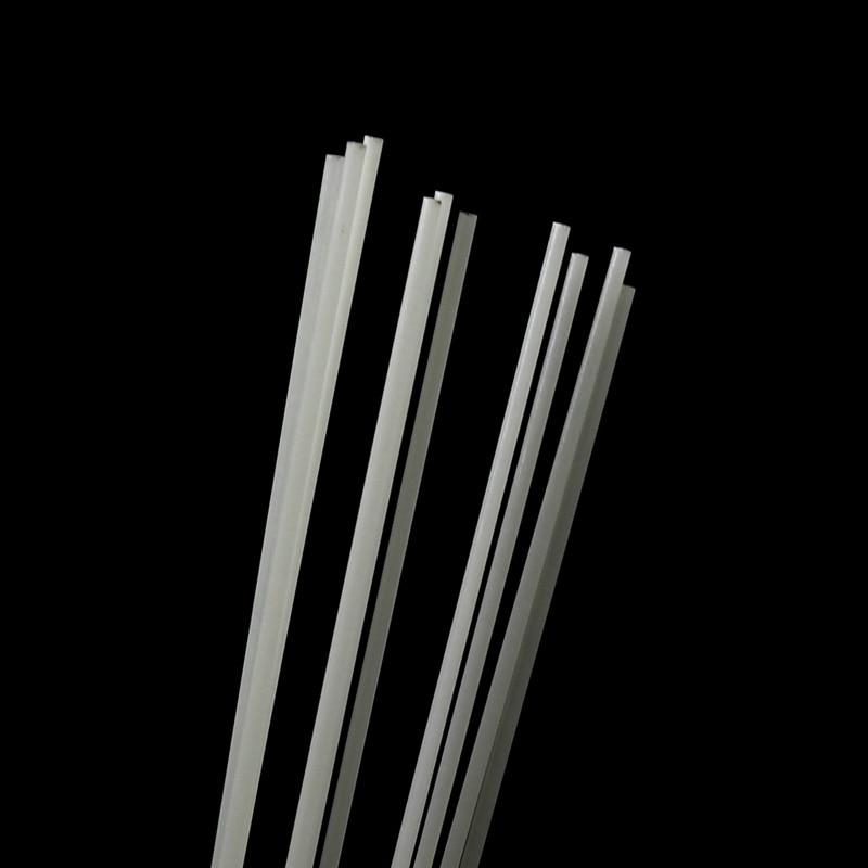 200 pcs 1mm 2mm redondo fibra de vidro vara para lula gabarito que faz a ponta