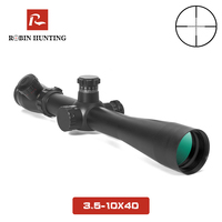3.5 10X40 Optics Riflescope Red And Green Dot Reticle Fiber Optics Sight Long Eye Relief Rifle Scope For Hunting