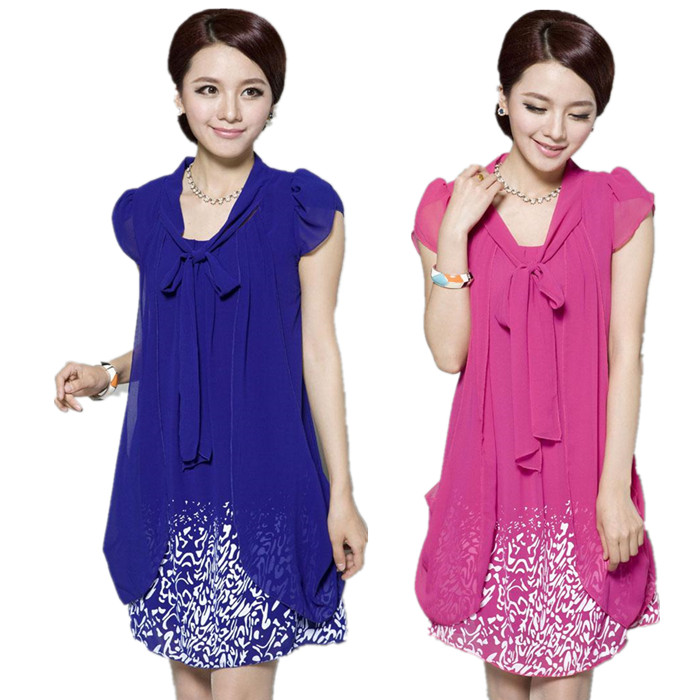 53af656c7d554 free shipping canada plus size maternity clothes 2016new women summer  mother Chiffon Dress cheap clothes china pregnancy clothes-in Dresses from  Mother ...