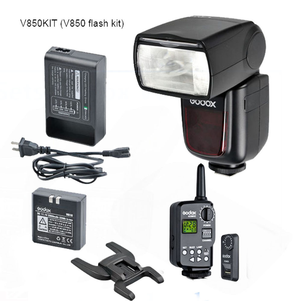 Godox VING V850 Li-ion Flash Speedlite with FT-16S Trigger Set for Canon for Nikon 2x godox v860n new li ion speedlite flash 1x ft 16s wireless trigger transmitter 2x receiver for nikon camera