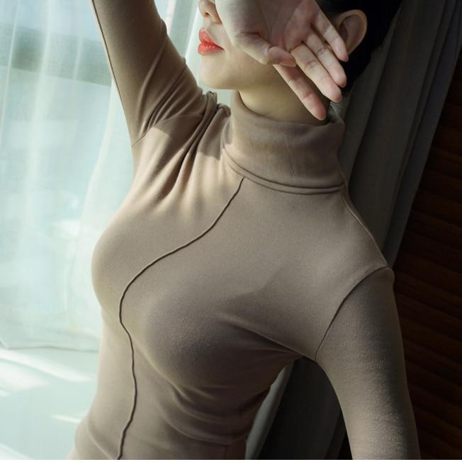 Soft Korean Style Skinny Turtleneck 4