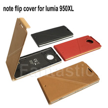 Luxury Note Flip Cover for Microsoft lumia 950XL Genuine Wallet Leather Case for Nokia lumia 950XL Back Cover with NFC and QI