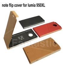 Роскошный флип чехол для Microsoft lumia 950XL, кожаный чехол бумажник для Nokia lumia 950XL, задняя крышка с NFC и QI