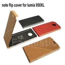Sang trọng Lưu Ý Lật Bìa đối với Microsoft lumia 950XL Chính Hãng Ví Da Trường Hợp đối với Nokia lumia 950XL Back Cover với NFC và QI
