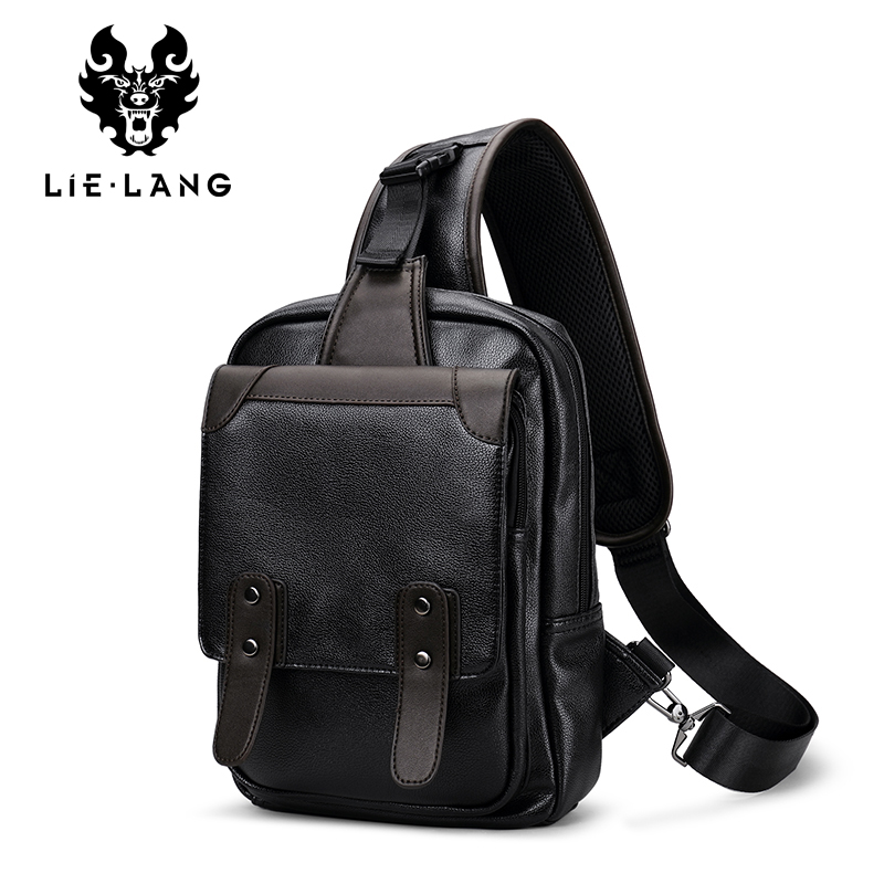 LIELANG Men Crossbody Bags PU Leather Casual Men Brand Small Male Shoulder Bag Casual Men's Music Black Chest Bags Messenger Bag jason tutu promotions men shoulder bags leisure travel black small bag crossbody messenger bag men leather high quality b206