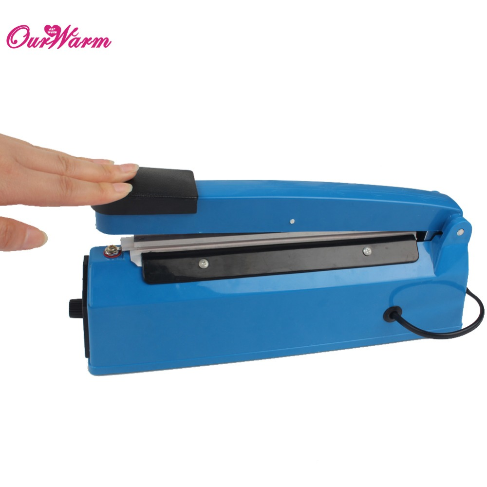 Impulse Sealer Hand Heat Sealing Machine Plastic Bag Closer Teflon Sealing