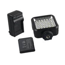 Mini 36 LED Video Light Photo Camera Hotshoe LED Studio Light Lamp +Battery +Charger for Canon Nikon Sony Camcorder DV DSLR