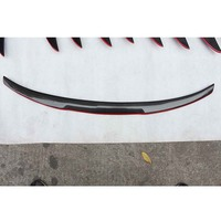 F32 M4 Style Red Carbon Fiber Rear Trunk Luggage Compartment Spoiler Car Wing For BMW F32