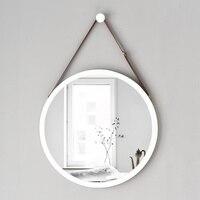 A1 Европейский Стиль Круглый зеркало навесное для ванной раковина, ванная комната в отеле стене висит макияж туалетный зеркало wx8281135