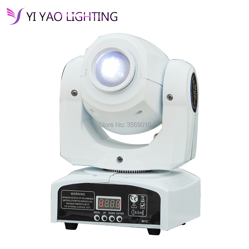 Spot Gobos Mini Moving LED Head Light 7 color Light 30W with 11 Channel 7 Gobos Effect for Party Disco DJ Show KTV Christmas