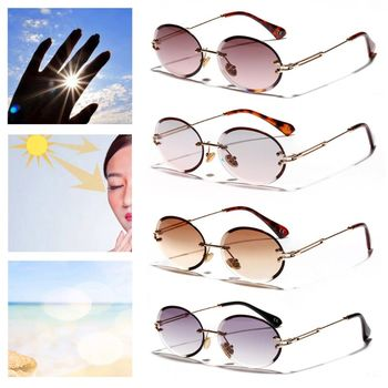 1248acef02 Nueva montura gafas de sol de moda tendencia caliente Pop Unisex protección  gafas de mujer al aire libre de los hombres de conducción sin marco patas  de ...