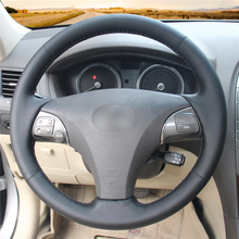 High quality Black Artificial Leather anti-slip customized car steering wheel cover For Lexus ES240 ES25