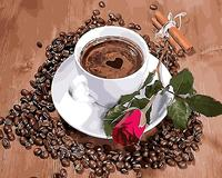 Love Coffee Home Decor No Frame Painting Picture By Numbers Handwork Draw On Canvas Wedding Decoration
