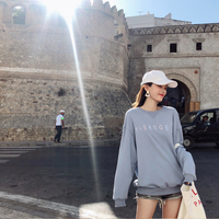 Letter Print Women Hoodies Sweatshirt Winter Autumn Thicken Harajuku Sudaderas Mujer Long Sleeve Pullovers MX18C6240