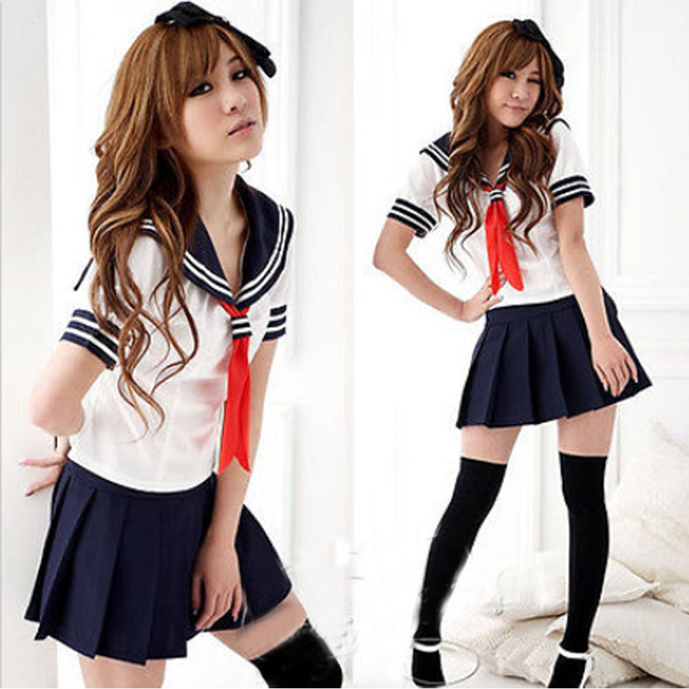 Cosplay Japanese School Girl Students Sailor Uniform Sexy Anime Costume  Fashion(China (Mainland)