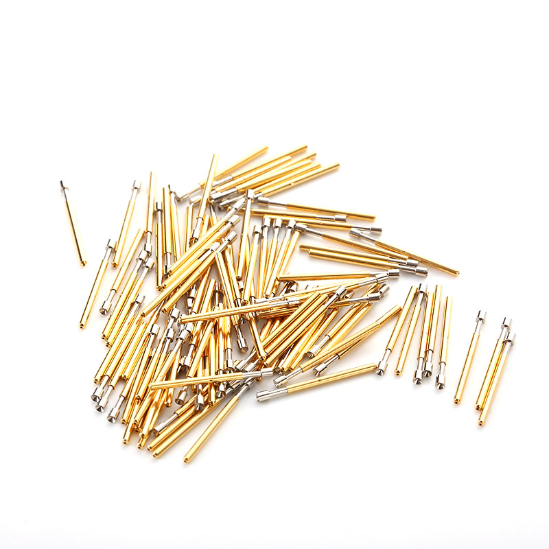 100Pcs P75-A Nickel Plated Springs Test Probe Brass Tube Outer Diameter 1.02mm Total Length 16.5mm Electronic Tool