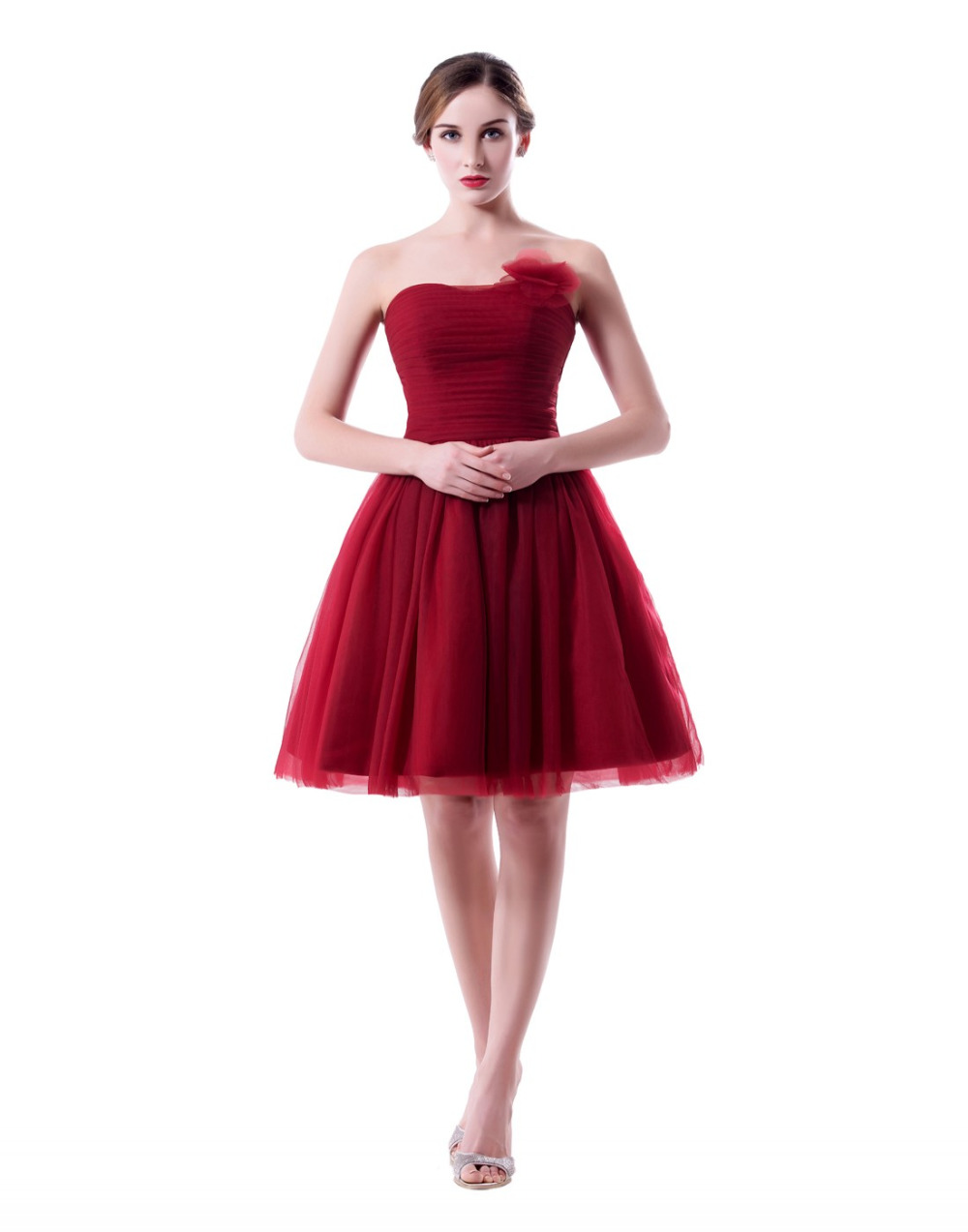 Buy burgundy short bridesmaid dresses for Dresses for wedding party
