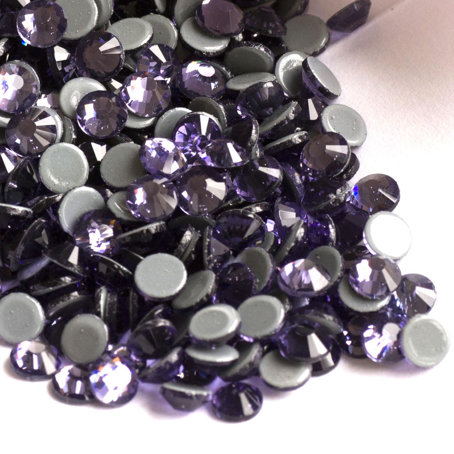 YANRUO Strass SS10 SS16 SS20 SS30 Tanzanite rinovon tufat cristal - Arte, zanate dhe qepje
