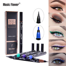 Multiple Scope Liquid Eyeliner Pen Super Black long-wearing Smudge-proof Water-proof Double head Eyeliner Gel Women Makeup Pen недорого