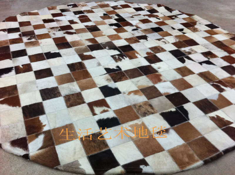 free shipping 1 piece 100% natural hand made cow leather landing mat