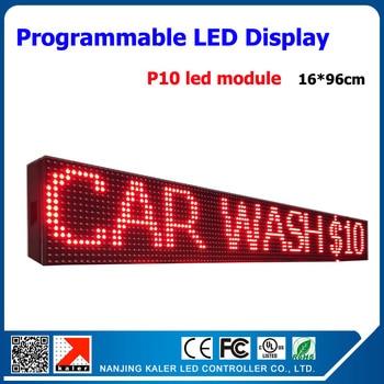 16*96 см красная светодиодная прокрутка текстовая вывеска p10 Светодиодный дисплей 1/4 сканирующая светодиодная вывеска