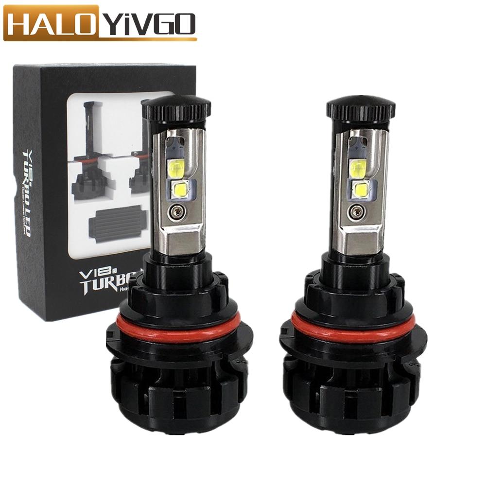9004 HB1 9007 HB5 Hi/Lo Beam LED Car Headlight Bulb 80W XHP50 Chips 6000K Conversion Kit Auto Headlamp Bulbs Fog Lights 12V