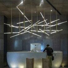 Современная лестница подвесной светильник кафе подвесной светильник золотой ветровое освещение светильник