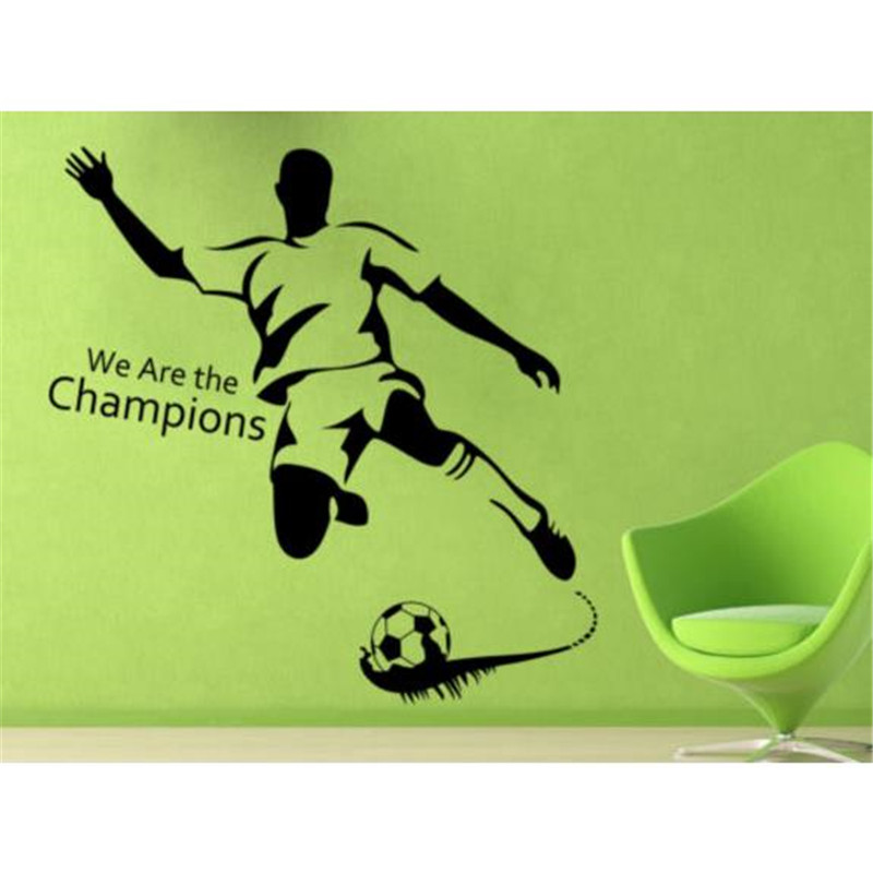 football boys living bedroom Wall Sticker for girl Art Decal ...