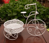 Antique Resemble Iron Art Tricycle Model Storage Organizer Tray Decorative Craft Embellishment Ornament for Fruits and Sundries