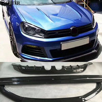 Golf 6 R20 Carbon fiber front lip rear diffuser side skirts for VW Golf VI MK6 R20 exot style 11 13