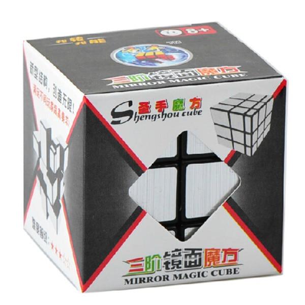 Nytt merke ShengShou Børstet Sølv & Gull Speil Cubo Magisk Cast - Puslespill - Bilde 2