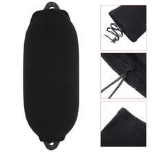 200*470mm Black SoftVelvet Boat Inflatable Fende Cover Anti-