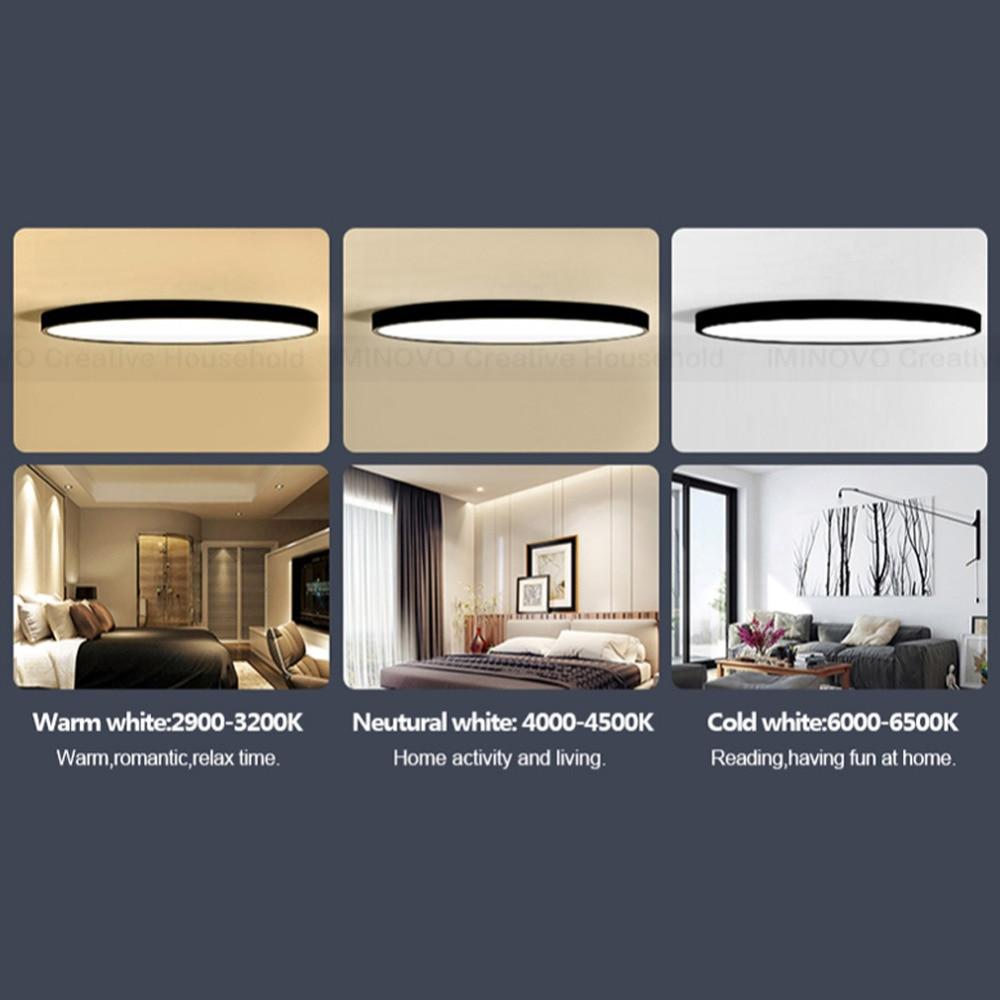Luz de techo llevada moderna lámpara de iluminación montaje en ...