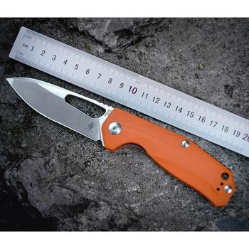 Kizer Survival Dao Cắm Trại Ngoài Trời Dao V4461A2 VG10 Drop Point Blade, Cam G10 Xử Lý