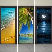 3D Door Stickers 2pcs/set Decals Self Adhesive Home Decor Poster PVC Waterproof