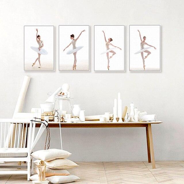Modern Different Ballet Movements White Photo Art Prints Poster Wall ...