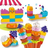 Legoingly Duploe Fantasy Ice Cream Cake DIY Building Blocks Compatible Children's Educational Assembling Toys Creative Gifts