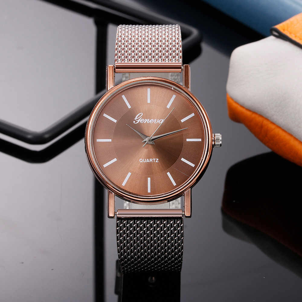 Dames Horloges 2019 Merk Luxe New Fashion Casual Stalen Band Analoge Quartz Zegarek Damski Dameshorloge Reloj Mujer