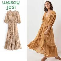 Elegant Florar Dress Women Long Dresses Summer 2019 Boho Dress Vintage Bohemian dress Plus Size Robe Sundress Female
