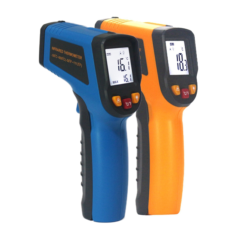 KETOTEK LCD Non-Contact Digital Laser IR Infrared Thermometer C/F Selection Surface Pyrometer Outdoor KT400 KT600