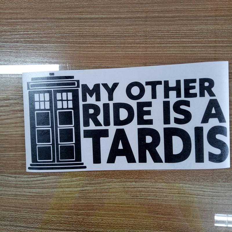Image 4 - My другой Ride это Tardis виниловая наклейка, наклейка на окно автомобиля Doctor Who, автомобильные аксессуары, мотоциклетный шлем, автомобильный стиль-in Наклейки на автомобиль from Автомобили и мотоциклы