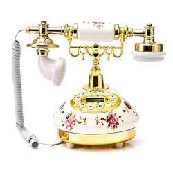 American-Estilo Telefone Retro Telefone Fixo Criativo Europeu High-End de Cerâmica Rosa Telefone De Mesa Para Home Office Decor