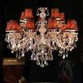 Люстра с 15 дужками  светодиодная  Роскошные  тканевые  E14  держатель для свечей  Cristal