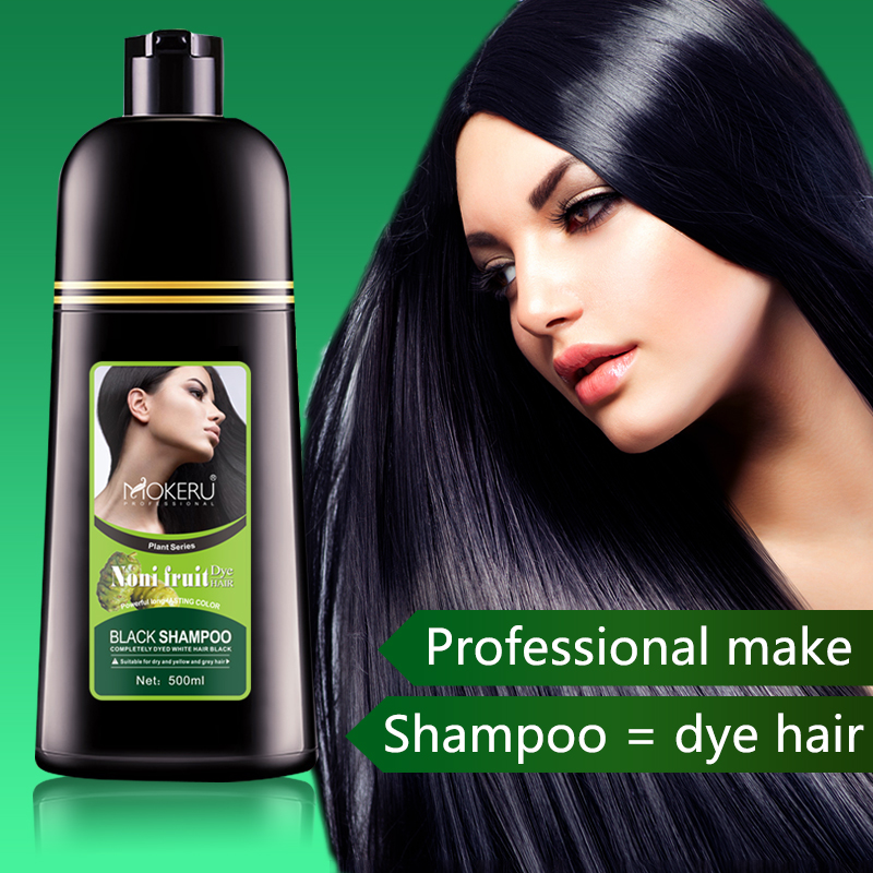 Noni Herbal Black Hair Magic Fast Dye Shampoo For The Back Magic Comb Color Hair 400ml Hair Color Aliexpress