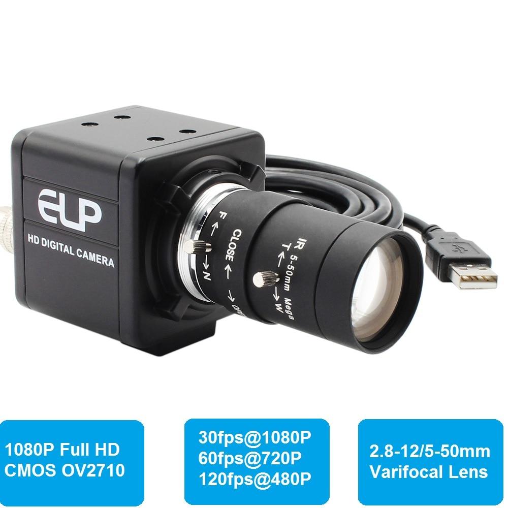 1080P Full HD 30fps 60fps 120fps mini PC Webcam USB Camera with Manual Zoom Varifocal Lens for PC Skype ,Video calling recording