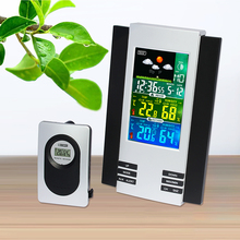 Best price JIMEI H126G-COLOR Wireless Digital Colorful LCD Display Indoor Outdoor thermometer hygrometer Weather Station Clock