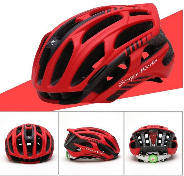 Light Helmet Crossword Bicycle Brake Lever Lamp Led Light